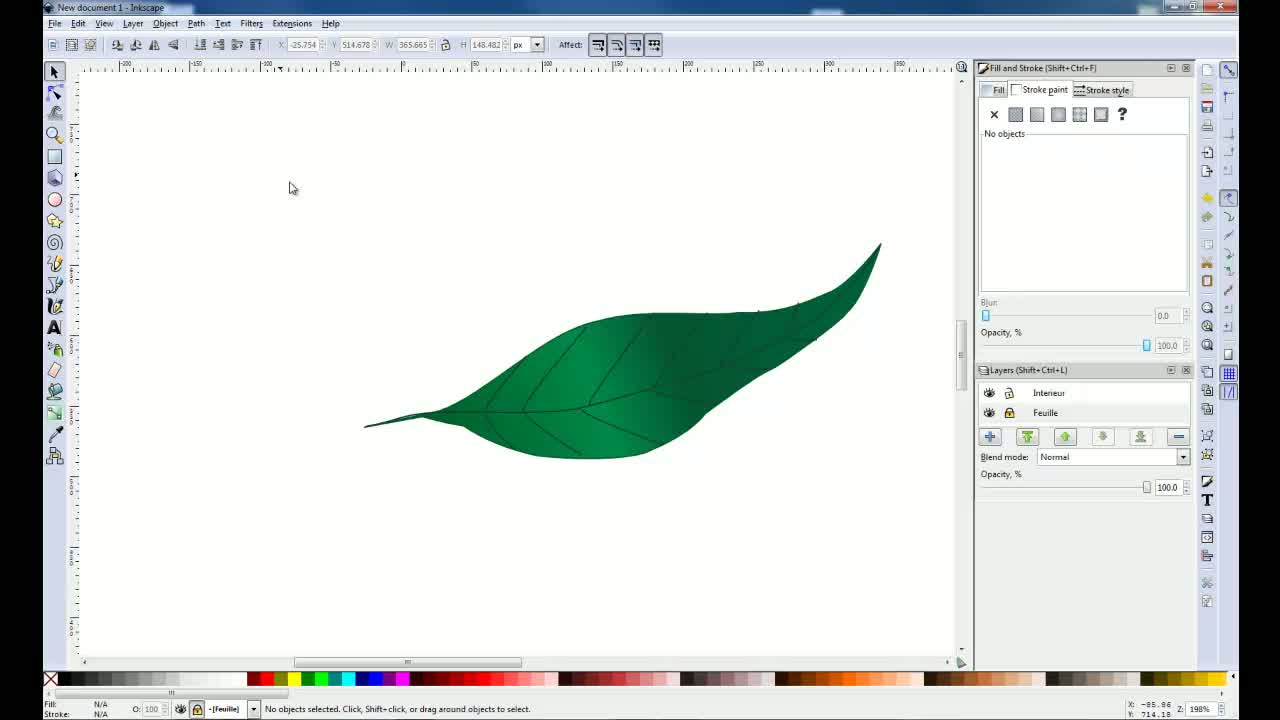 Inkscape - Creer un objet d un scan