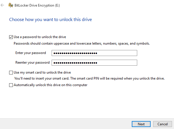 Windows 10 - Virtual drive - Encrypt 2